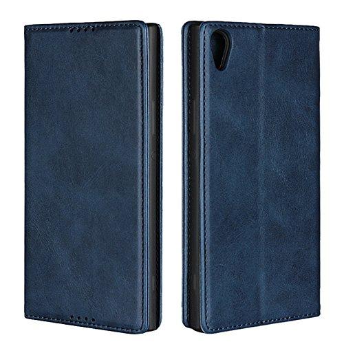 Copmob Funda Sony Xperia XA1 Ultra,Premium Flip Billetera Funda de Cuero,[3 Ranuras para Tarjetas][Función de Soporte][Cierre magnético],Carcasa Cover para Sony Xperia XA1 Ultra - Azul