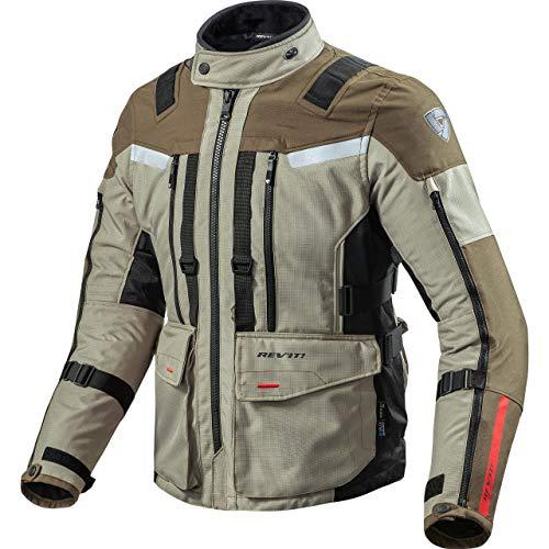 REV'IT! Veste de Moto avec Protections Veste de Moto Sand 3 Veste Textile Sand/Noir XXL, Hommes, Enduro/Reiseenduro, Toute l'année, Beige