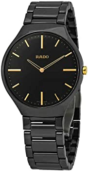Rado True Black Dial Men's Watch