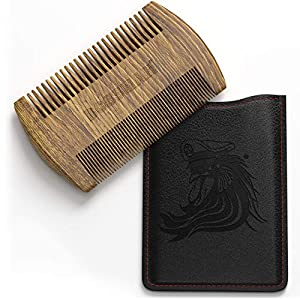 Bossman Pocket Size Sandalwood Beard Comb with Protective Case - Beard, Mustache, and Hair Fine and Wide Tooth Wood Comb… 11