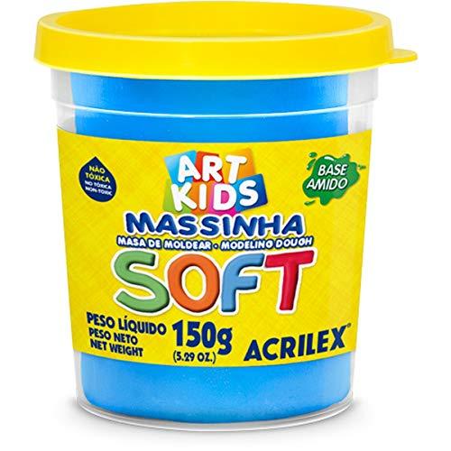 Massa de Modelar Soft Acrilex Azul 150g