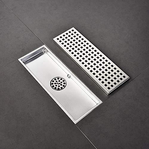 Badkamer Vloer Lineaire Douche Afvoer, RVS Afvoer Sifon, Badkamer Vloerafvoerhoes, Vloerafvoer Anti-Odor, Sifon Afvoer Systeem 30×11cm/11×4in Zilver1