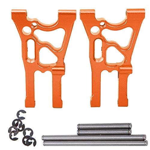 Vorderer unterer Suspendierungsarm, 2pcs Aluminiumlegierung ersetzen Teile für HPI elektrisches 1/8 WR8 Flux Ken Block Gymkhana RC Auto(Orange)