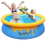 Piscina infantil para bebés, piscina familiar grande, piscina hinchable para jardín, piscina para adultos, bebés, exteriores, Easy Set – 150 cm x 150 cm x 45 cm