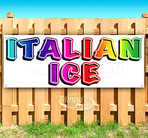 Max 58% OFF Inventory cleanup selling sale Italian Ice Rainbow 13 oz Non-Fabric Heavy-Duty Vinyl Banner