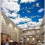 Fototapete 3D Wolken-Schmetterlingsdecken-Zenitwohnzimmer Des Schönen Blauen Himmels Des Fotos Weißes Wandbild-200cmx140cm
