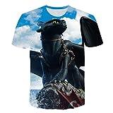 2019 el más Nuevo Cómo Entrenar a tu dragón Camiseta Impresa en 3D para ser un par Unisex para la Popular Camisa de Look Casual de Cuello Redondo de Verano