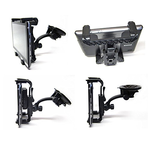 Ramtech Car Vehicle Truck Adjustable Windshield Suction Mount Holder Bracket Stand Suitable for Rand McNally IntelliRoute 8 TND Tablet (Note: Fits Tablet GPS and Magnetic Slice Mount) - WMB7