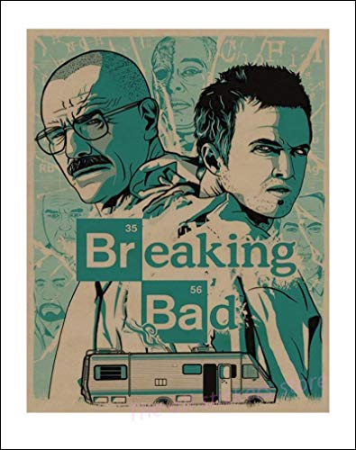 lubenwei Breaking Bad Poster Movie Poster Vintage Retro Wall Sticker Home Decor Bar Cafe Poster 40x60cm No frame AT-2336