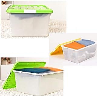 MU Bois Massif de boîte de Rangement portative de ménage, Plastique épaississant de ménage vêtent Les Besoins Quotidiens d...