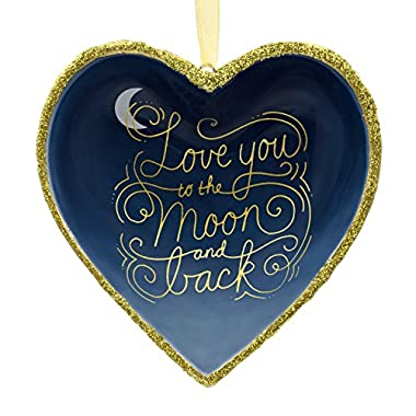 Hallmark Signature Premium Love You to the Moon and Back Porcelain Christmas Ornament