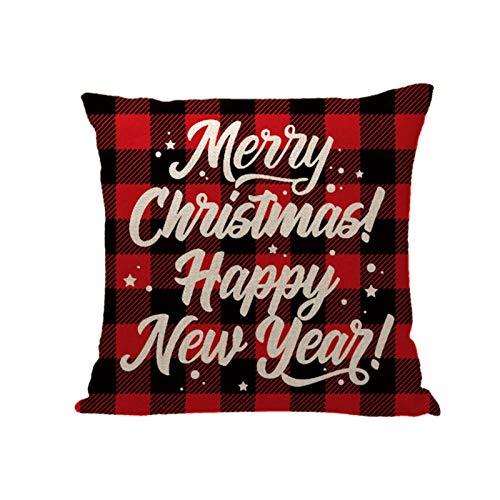 Home Christmas Decor Cushion Cover Family Pillowcase Throw Linen Pillow Cover Home & Garden Pillow Case