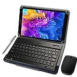 4G Tablette Tactile Ecran 10 Pouces 64Go ROM 4Go RAM 2 en 1-Clavier Bluetooth + Souris 4G Doule...