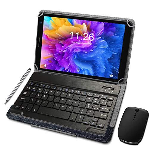 Tablet 8 Pollici 3GB + 32GB Espandibile fino a 128GB, Tablet con Processore Quad-Core Android 10.0, Fotocamera di 2MP + 5MP, WiFi (rosso)