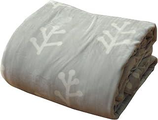 ★イケヒコ こたつ布団カバー 長方形 洗える 『小枝』 グレー 約195×245cm ファスナー付き ♯5175989