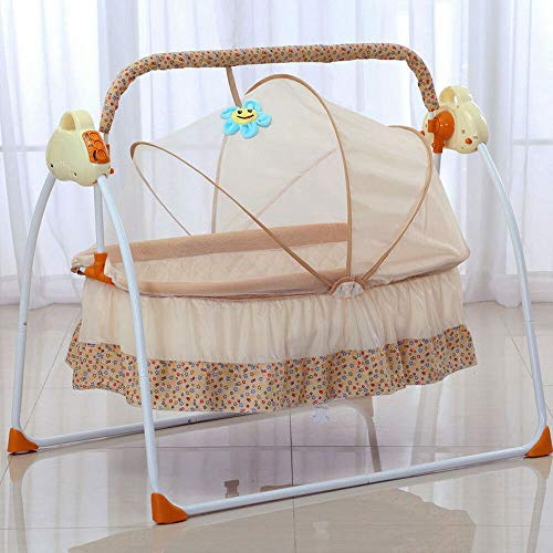 Elektrische Babyschaukel Automatische Babywippe Babybett Babywiege mit Musik