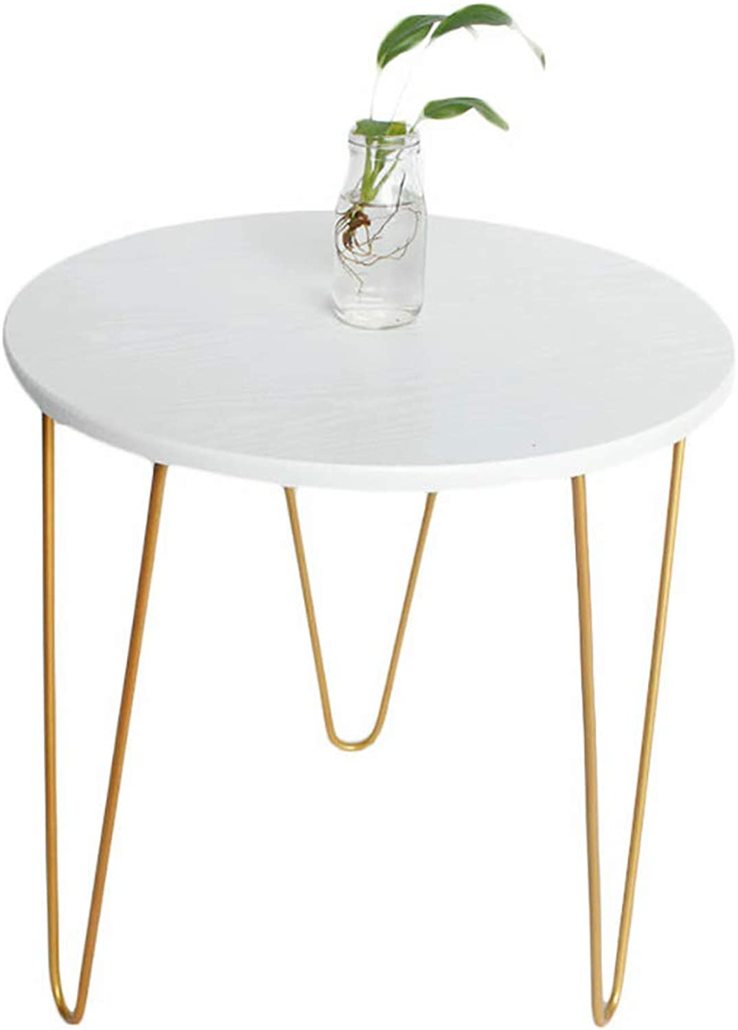 Small Round Table Coffee Table side table Modern Casual Tea Table Balcony and Living Room Dining Table Kitchen Table bar Table - White