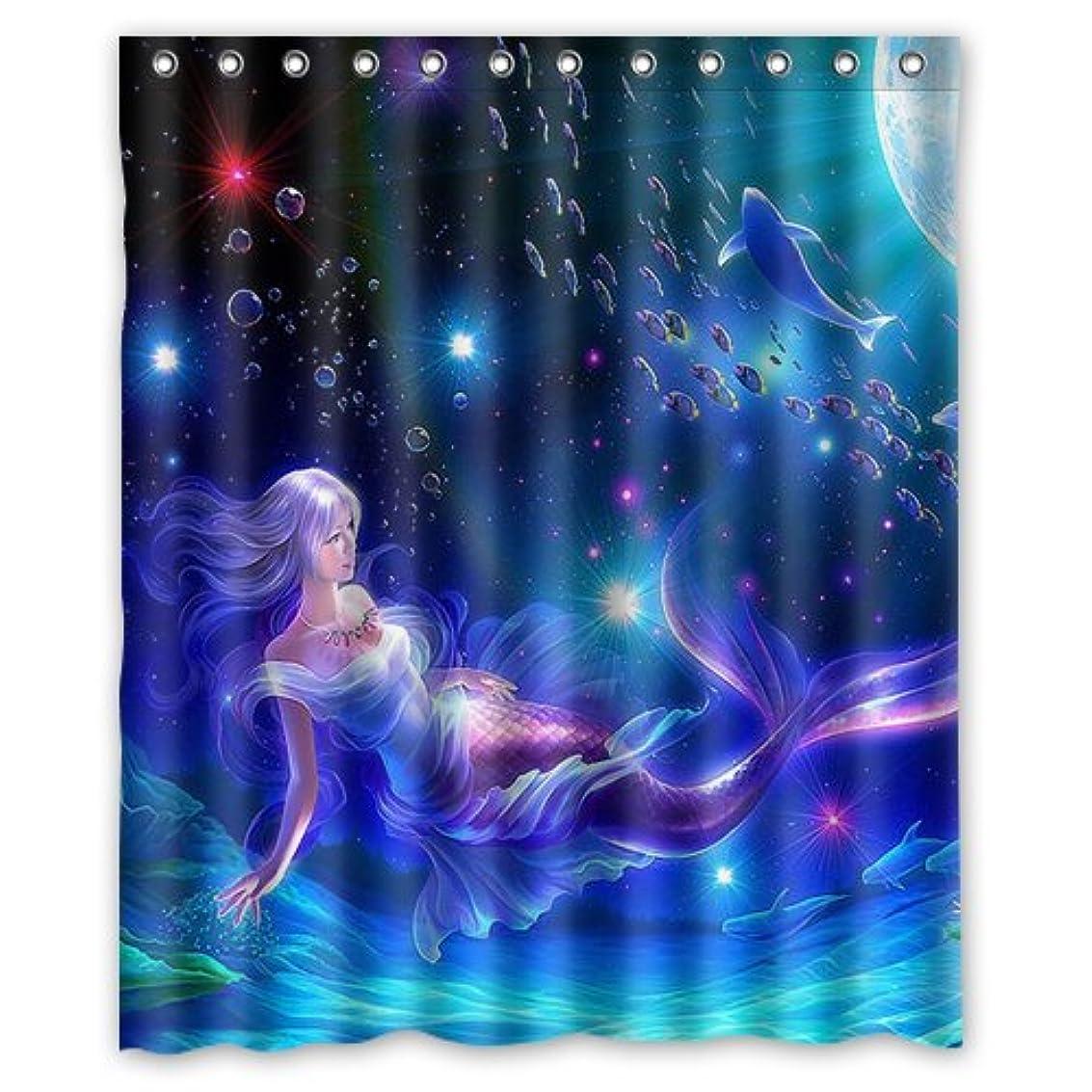 Underwater World Ocean Deep Sea Beautiful Mermaid 60(w)x72(h)Inch Bathroom Waterproof Shower Curtain Bath Curtains utwkt1071047540