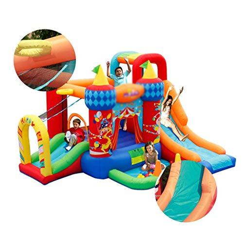 DSHUJC Castillo hinchable para juegos de niños, para el hogar, juguete hinchable para interiores, trampolín circular adecuado para parques de juegos (118 x 141 x 82,6 pulgadas)