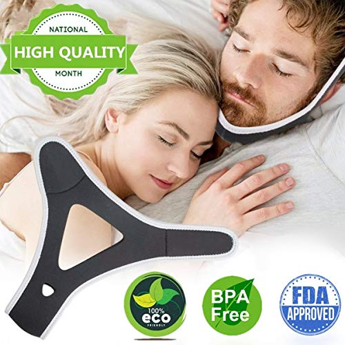 Anti Snoring Chin Strap,Adjustable Snoring Chin Strap for Men and Women,Stop Snoring Chin Strap Solution and Effective Sleep Aids snore chin strap, Anti Snoring Devices