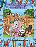 Pequeños animales de zoológico - Libro de colorear: Libro Para Colorear Para Niños De 4 A 7 Años
