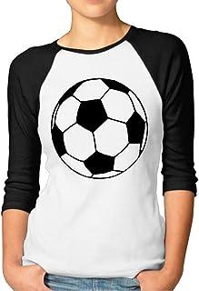OPQRSTQ-O Soccer Ball Women's Long Sleeve Printed T Shirt