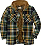 Legendary Whitetails Men's Standard Maplewood Hooded Shirt Jacket, Field Tract Plaid, X-Large
