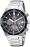 Casio Men's Edifice Quartz Watch with Stainless-Steel Strap, Silver, 20 (Model: EQS-800CDB-1AVCF)