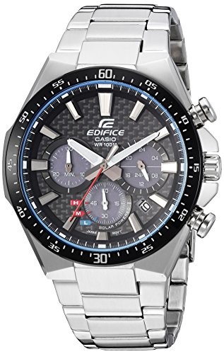 Casio Men's 'Edifice' Quartz Stainless Steel Casual Watch, Color:Silver-Toned (Model: EQS-800CDB-1AVCF)