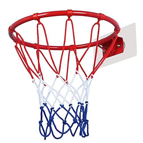 Canasta para Baloncesto Mini Aro De Baloncesto Montado En La Pared, Aro De Baloncesto para Niños En Interiores Y Exteriores, Fácil De Instalar Sin Perforar, 25 Cm / 30 Cm (Size : 30cm)