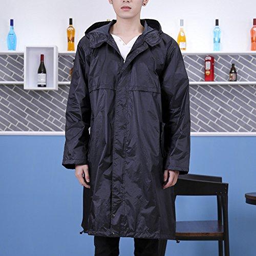 Huifang Vêtements de pluie QFFL Imperméable Imperméable Long Poncho Adulte XL Coupe-Vent Randonnée Mountain Raincoat 2 Couleur Taille Optionnelle en Option imperméable (Couleur : Noir, Taille : L)