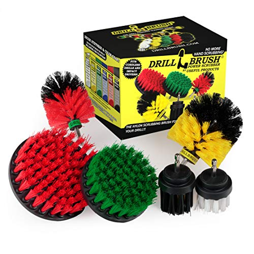The Ultimate - Drill Brush - Cleaning Supplies - Kit - Bathroom Accessories - Shower Cleaner - Bath Mat - Kitchen Accessories - Grout Cleaner - Dish Brush - Stove - Oven - Sink - Outdoor - Scrub Brush
