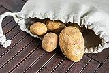 jomas design Brotbeutel 100% Leinen - Brot Aufbewahrung 30x40cm nachhaltig umweltfreundlich wiederverwendbarer Brotsack, Brottasche auch Obst Gemüse Einkaufstasche - 8