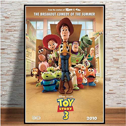mohanshop Pintura Sin Marco Arte De Pared Toy Story 4 2019 Película Película Cartel Imagen Impresiones Lienzo Pintura para Habitación Decoración del Hogar A349 (40X60Cm) Sin Marco