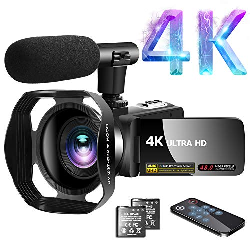 Videokamera 4K Video Camcorder 30.0MP18X Digital Zoom Ultra HD Vlogging Camcorder mit Mikrofon 3