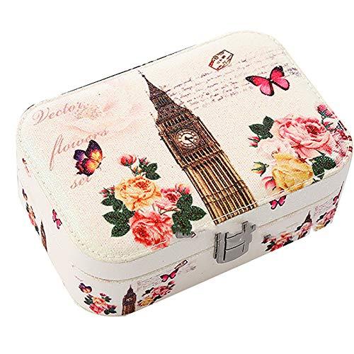 Caja De Joyería De Cuero Artificial De Las Mujeres PU, Caja De Joyería del Collar Portátil, Caja De Joyería De Almacenamiento Pulsera Big Ben2