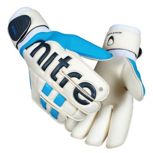 Mitre Revolve Academy Torwart Handschuhe, Weiß/Blau