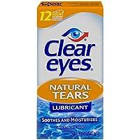 Clear Eyes Natural Tears Lubricant Eye Drops