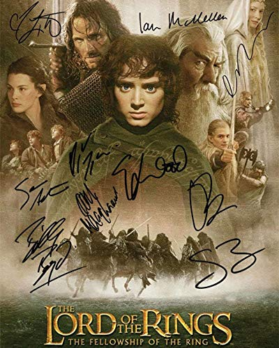 Lord of The Ring Movie Cast Signed Photo Autograph Reprint Poster - Wall Art for Home Decor Poster - 11x17 16x24 24x36 Inch (No Frame)