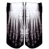 Calcetines Dedo Esqueleto óseo Radiografía Del Cráneo De Impresión De Fotografías Del Calcetín De Disfraces De Halloween Medias Del Algodón