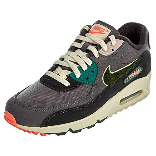 Nike Air Max 90 Premium Se, Chaussures de Running Compétition Homme, Multicolore (Oil GreyRainforestLight Cream 002), 45 EU