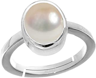 119df70cc EVERYTHING GEMS 100% CERTIFIED Pearl Moti 8.25 Ratti 7.50 Carat Stone  Astrological Silver Adjustable Ring