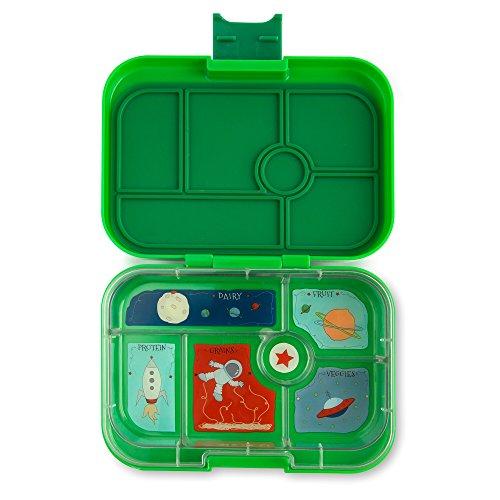 Yumbox Original M Lunchbox (Terra Green, 6 Fächer) - mittelgroß | Brotdose mit Trennwand Einsatz | Bento Box für Kindergarten Kinder, Schule