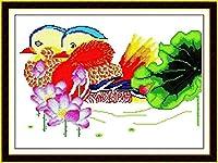 クロスステッチ刺繡キットロータスを刺繡11CTDIYクロスステッチ刺繡の飾り、刺繡刺繡絵刺繡クロスステッチ刺繡飾り品-40x50cm