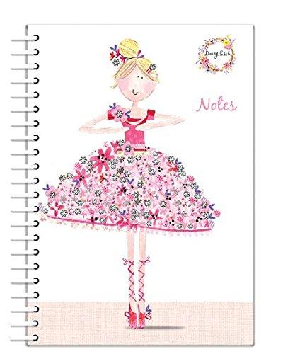 Robert Frederick A5 WIRO Notitieboekje Gevoerd Daisy Patch Mooi in Roze Ballerina, Gesorteerd, 30 x 10 x 4 cm