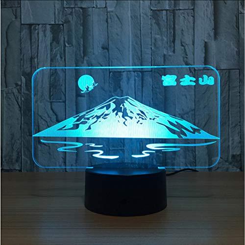 Ponana Lámpara Fuji Shape 3D De Sun En Japón Lámpara JapónLámpara De Mesa De Escritorio De Montaña DeLuz De Noche Con Luz Led De Noche DeNieve3D Colorida