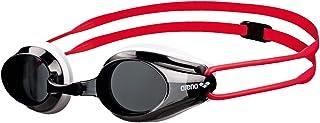 arena Tracks Jr Gafas de Natación, Unisex Adulto, Negro (Smoke/White/Red), Talla Única