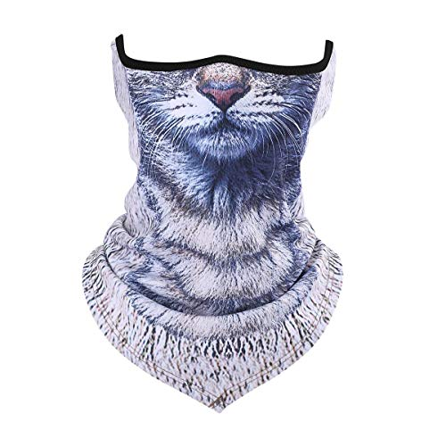 5. Cat Patterned Half Face and Neck Mask