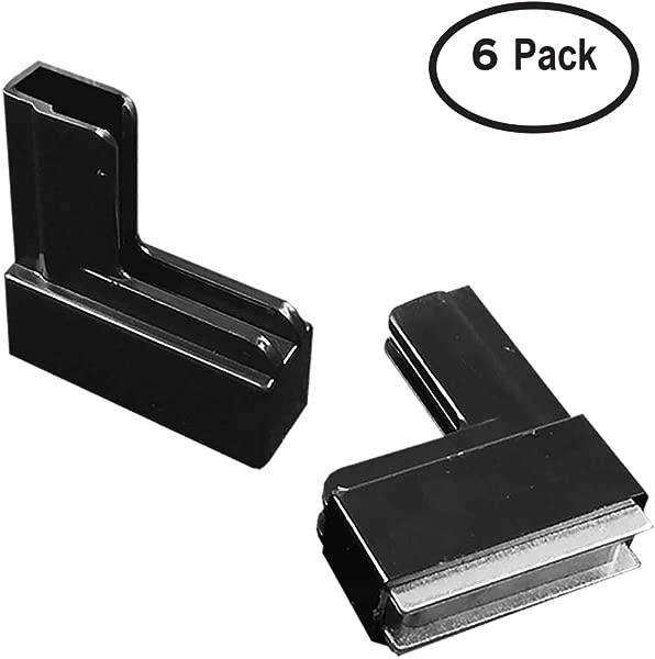 DGS Retail Magnetic Sign Holder Boot Base Heavy Duty Ceramic Metal Magnet Plastic 2 8 L 0 8 W 2 8 H Black 6 Pack