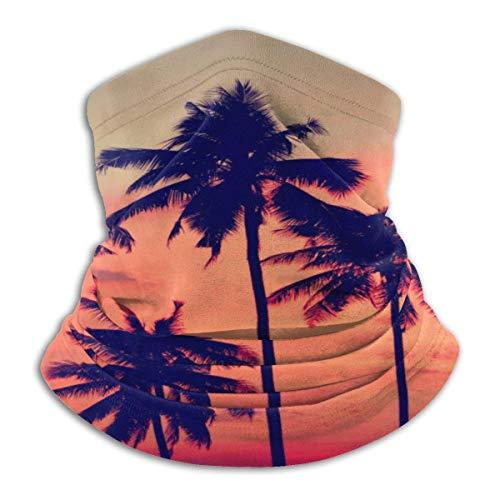 fenrris65 Máscara de palmera de playa, bandanas, bufanda, calentador de cuello, pasamontañas, diadema para polvo, deportes al aire libre, sol